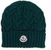 Moncler cable knit hat - kids - Virgin Wool - 44 cm