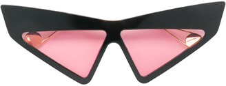 Gucci Visor Crystal-Studded Sunglasses