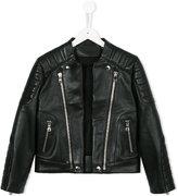 Balmain Kids - biker jacket - kids - Lamb Skin - 8 yrs