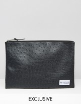 Hype Exclusive Pouch in Faux Ostrich Leather