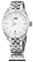 Oris Artix GT Date White Dial Stainless Steel Ladies Watch