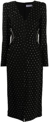 Self-Portrait Stud Embellished Front Slit Dress