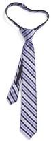 Nordstrom Boy's Stripe Silk Zipper Tie