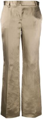 L'Autre Chose metallic cropped trousers