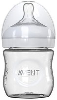 Avent Naturally Philips Glass Baby Bottle Clear 4 oz.