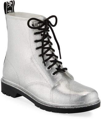 MICHAEL Michael Kors Tavie Metallic Combat Rain Boots
