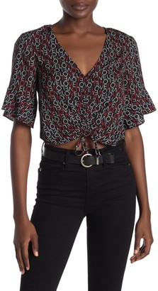 Rachel Roy Love Drawstring Tie Crop Top