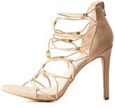 Charlotte Russe Embellished Strappy Dress Sandals