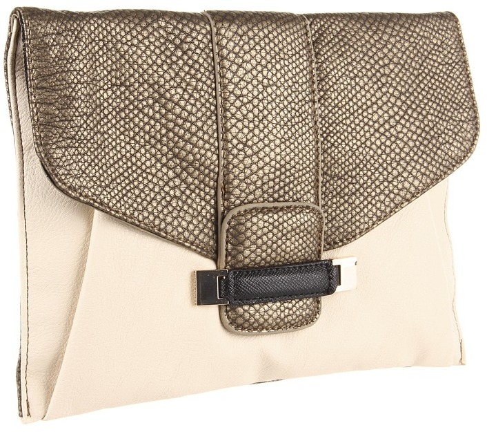 Ivanka Trump Jessica Envelope Clutch (Brass) - Bags and Luggage