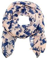 Lulu Mama and Baby Elephant Scarf in and Blue