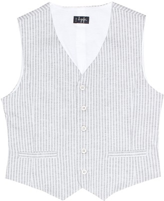 Il Gufo Striped cotton vest