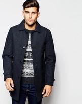 Esprit Houndstooth Wool Trench Coat