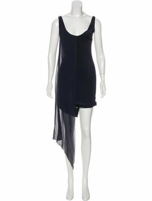 Galvan Embellished Mini Dress w/ Tags Navy