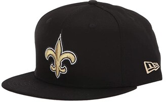 New Era NFL Basic Snap 9FIFTY(r) Snapback Cap - New Orleans Saints (Black 1) Caps