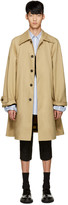Raf Simons Beige Mackintosh Rain Coat