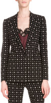 Givenchy Printed One-Button Cady Blazer, Black