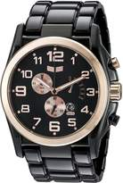 Vestal Men's DEV010 De Novo Black Rose Gold Watch