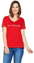 Peace Love World Pima Cotton Affirmation KnitTop