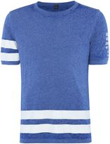 Replay Crewneck T-shirt With Striped Print