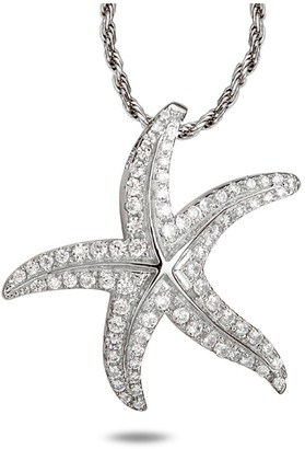 Alamea Sterling Silver Starfish Pendant with Chain