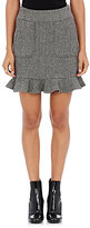 Harvey Faircloth Women's Wool Herringbone Miniskirt-GREY