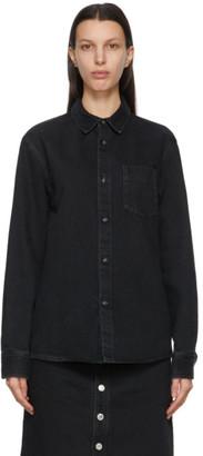 A.P.C. Black Denim Victor Over Shirt