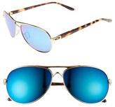 Oakley Women's 'Feedback' 59Mm Polarized Sunglasses - Polished Gold/ Iridium/ Polar