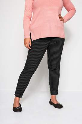 Womens Yours Curve Bi-Stretch Tapered Trousers - Black
