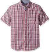 Nautica Men's Short Sleeve Classic Fit Multi Color Plaid Button Down Shirt