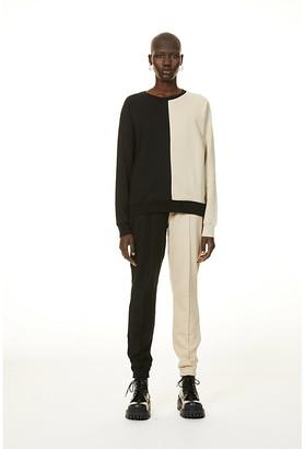 Ninety Percent Two-tone organic-cottong jersey sweatshirt