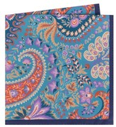 Ted Baker Men's Provence Paisley Silk Pocket Square