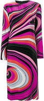 Emilio Pucci abstract print midi dress - women - Silk/Viscose - 38