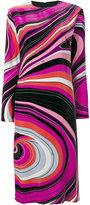 Emilio Pucci abstract print midi dress