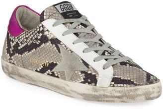 Golden Goose Superstar Snake-Print Sneakers