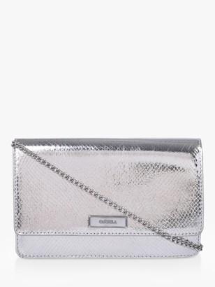 Carvela Gossip Clutch Bag, Silver