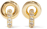Elizabeth and James Neko Gold-plated Topaz Earrings - one size