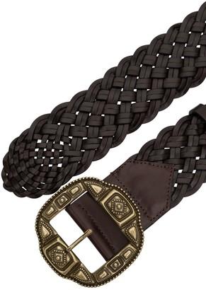 Etro Braided Leather Belt