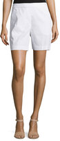 Theory Harsbie Crunch Washed Shorts, White