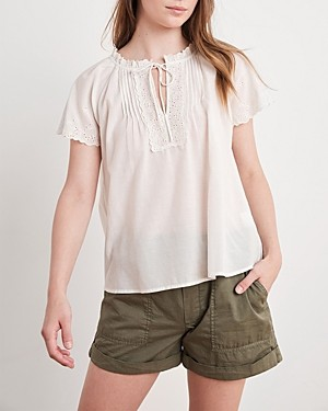 Velvet by Graham & Spencer Noely Embroidered Top