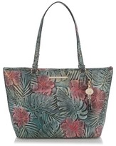 Brahmin Floral Medium Asher Tote - Green