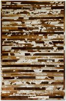 Natural Rugs Linear Cowhide Area Rug