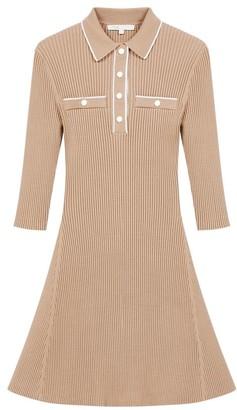 Maje Relly Rib-Knit Short Dress