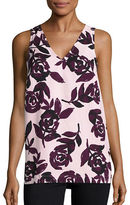 Lord & Taylor Floral Crepe Top