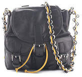 Balenciaga Black Lambskin Leather Mini Chain Backpack