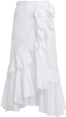 Charo Ruiz Ibiza Donna Ruffled Tie Midi Skirt