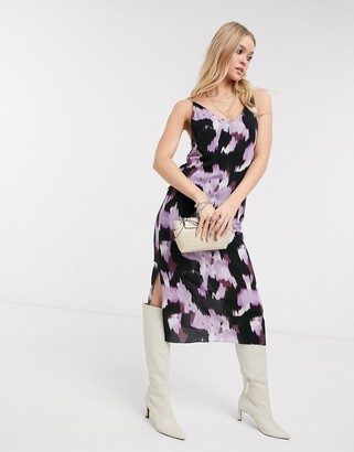 Bolongaro Trevor tie dye print slip dress