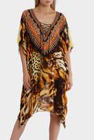 Bondi Beach Bag Co Tigress Animal Print Lace Up