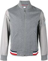 Moncler Gamme Bleu contrast sleeve bomber jacket - men - Cotton/Polyamide/Cupro - M