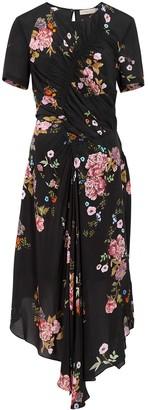Preen Line Shae Printed Crepe De Chine Midi Dress