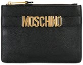 Moschino logo strap clutch - women - Calf Leather - One Size